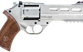 CHIAPPA RHINO 5″ 50DS Revolver | Nickel | .357 Magnum/.38 Special (340.223)