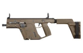KRISS VECTOR – 10mm Pistol w/ Stabilizing Brace | FDE  (KV10-PSBFD20)