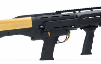 Black & Gold Two-Tone DP-12 Double Barrel Pump Shotgun