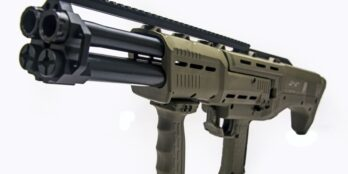 Green DP-12 Double Barrel Pump Shotgun