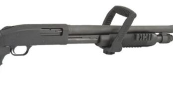 Mossberg 500 (MB50460) CHAINSAW 12/18.5 BL/SY STAND-OFF BBL/TRI-RAIL FOREND 12 Gauge