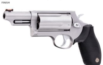 TAURUS JUDGE 3″ CHAMBER 3″ BARREL 4510TKR-3MAG REVOLVER | 4510 .45/.410 5 ROUNDS STAINLESS FINISH